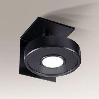 czarny okrągły reflektor sufitowy nowoczesny