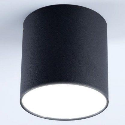 czarny plafon w kształcie tuby do salonu do sypialni