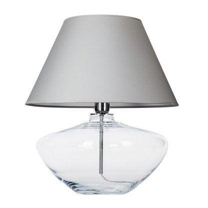 czysta biel abażura w lampie stołowej