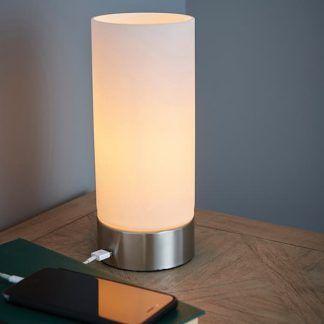 dara lampa stołowa z ładowaniem telefonu