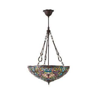 dekoracyjna lampa wisząca klosz ze szkła witrażowego