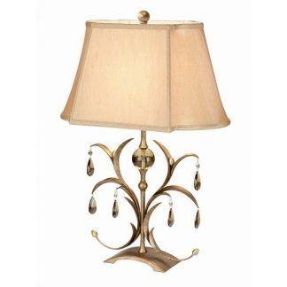 Dekoracyjna podstawa lampy beżowy abażur