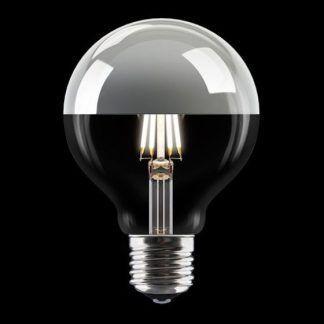 dekoracyjna żarówka do lampy wiszącej - srebrna malowana