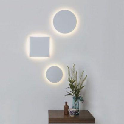 dekoracyjne kinkiety LED z gipsu do salonu
