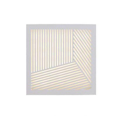 dekoracyjny biały kinkiet z IP 40