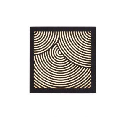 dekoracyjny czarny kinkiet z ip44