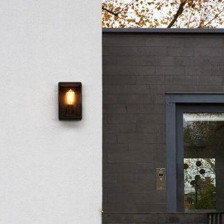dekoracyjny kinkiet zewnętrzny rustykalny - nowoczesny czarny