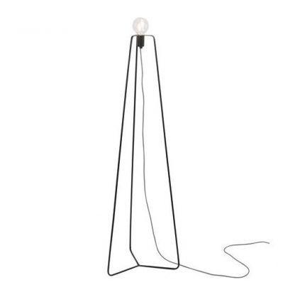 designerska lampa podłogowa czarny trójnóg