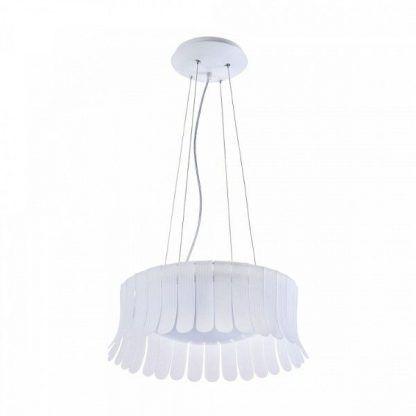 designerska lampa wisząca do jadalni nad stół - biała