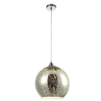 designerska lampa wiszaca szklana kula do kuchni