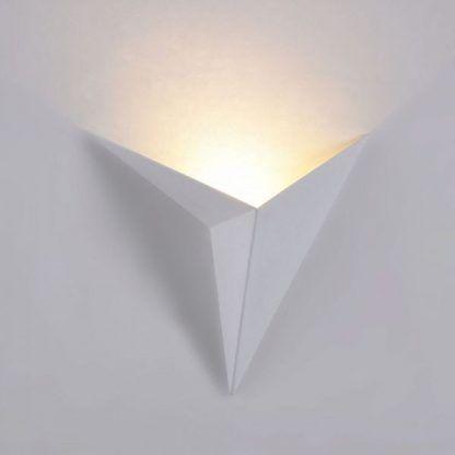designerski geometryczny kinkiet biały - trójkątny