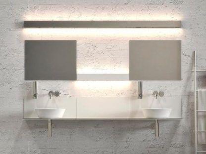 długa lampa ścienna do łazienki nad zlewy i blaty