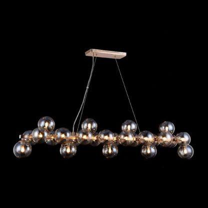 długa lampa wisząca z wieloma kulami - nowoczesne inspiracje