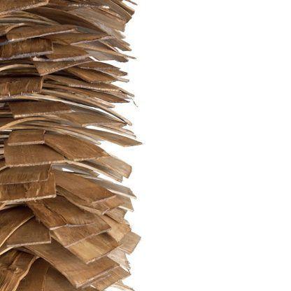 drewniana lampa wiszaca z gontu - z listewek eko