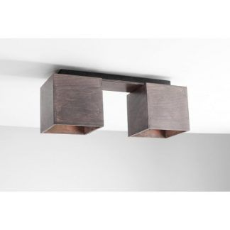 drewniana nowoczesna lampa sufitowa