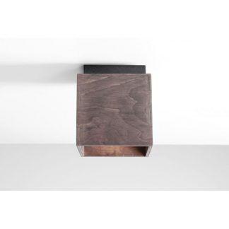 drewniany plafon nowoczesny do przedpokoju
