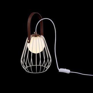 druciana lampa stołowa klosz szklana kula