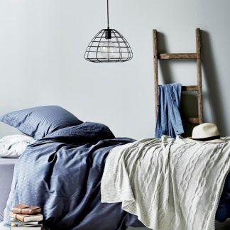 druciana lampa wisząca aranżacja sypialnia
