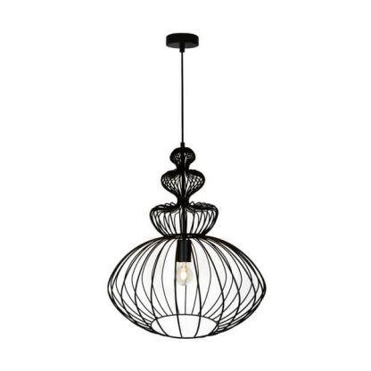 druciana lampa wisząca dekoracyjna - ażurowe klosze
