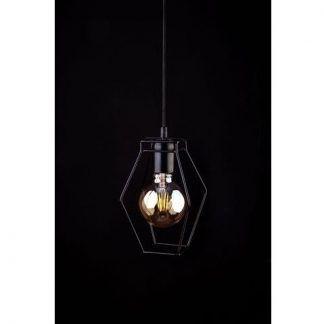 druciana lampa wisząca geometryczny kształt
