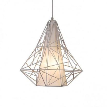 druciana lampa wisząca o ciekawym designerskim kształcie