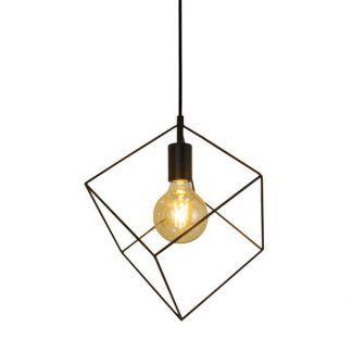 druciana lampa wisząca obrys kwadratu