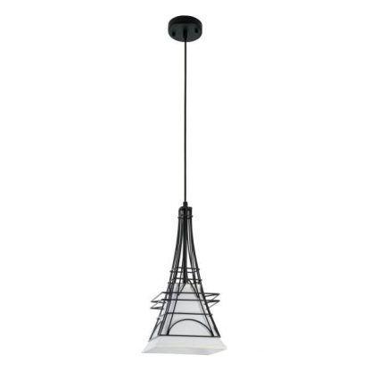druciana lampa wisząca z abażurem Paryż