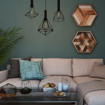 druciane lampy wiszące aranżacja salon