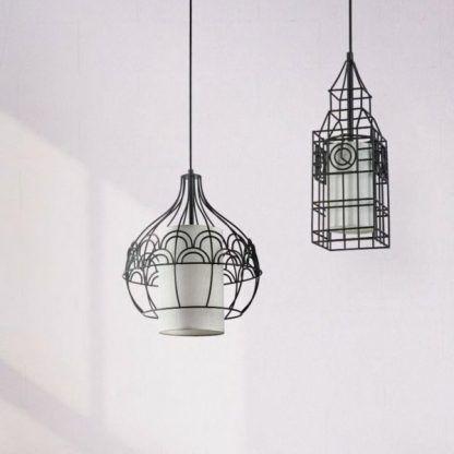 druciane lampy wiszące inspiracje budynkami świata