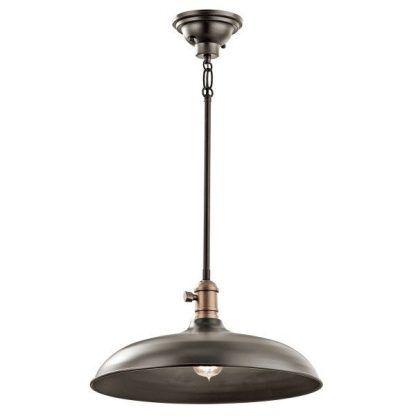 duża brązowa lampa wisząca w stylu retro