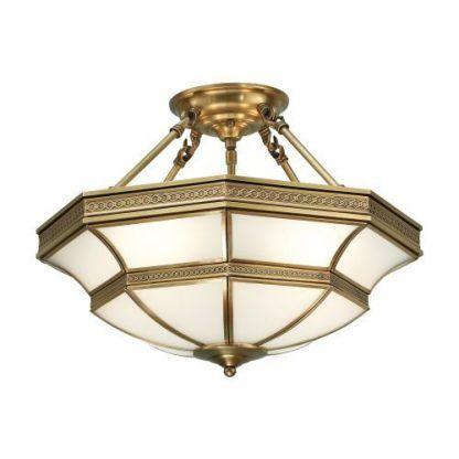 duża klasyczna lampa sufitowa szkło i złote detale