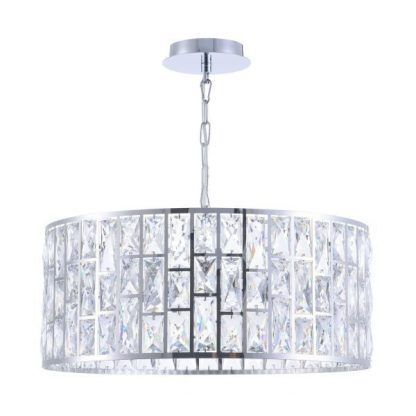 duża kryształowa lampa wisząca do salonu