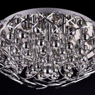 duża lampa sufitowa chrom nowoczesny design