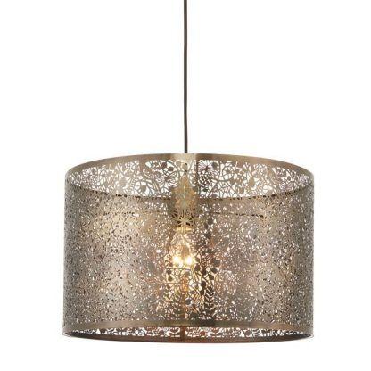 duża lampa wisząca ażurowa mosiądz