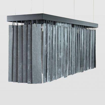 duża lampa wisząca czarna z płytek ceramicznych