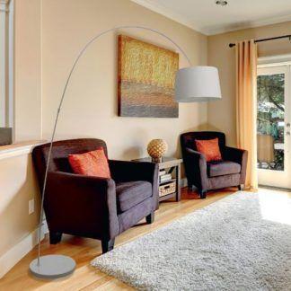 duża lampa wisząca do salonu - dekoracyjna na łuku