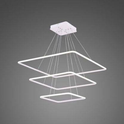 duża lampa wisząca led białe kwadraty