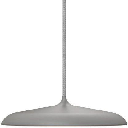 duża płaska szara lampa wisząca do salonu