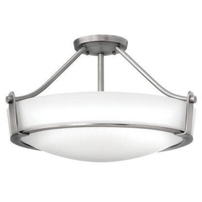 klasyczny plafon szklany klosz w srebrnej ramie