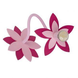 dziecięcy kinkiet w kształcie kwiatu różowy