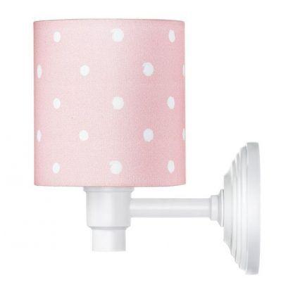 dziecięcy różowy kinkiet do pokoju - z wzorami