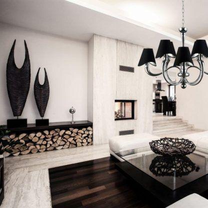 Elegancka lampa do obszernego jasnego salonu