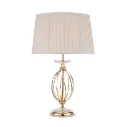 elegancka lampa stołowa glamour ze złota podstawą