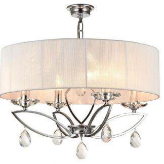 elegancka lampa wisząca z dużym abażurem salon
