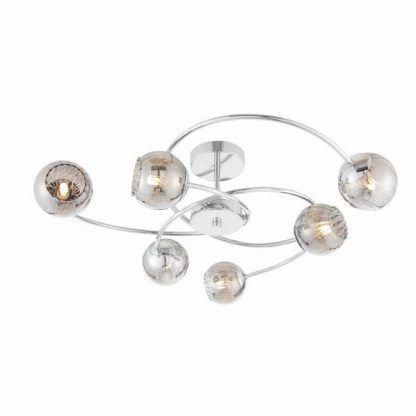 elegancka srebrna lampa sufitowa do salonu