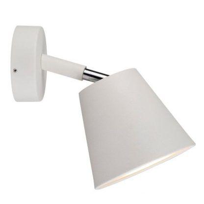 elegancki i nowoczesny biały kinkiet łazienkowy do lustra