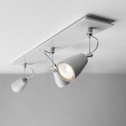 elegancki nowoczesny reflektor na 3 żarówki - lampa sufitowa