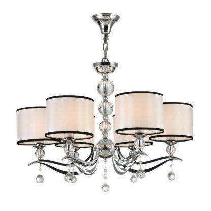 Elegancki żyrandol do salonu z kryształowymi kulkami