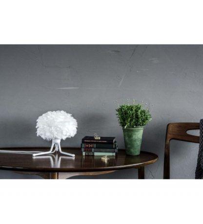 eos biały trójnóg stołowy z piór