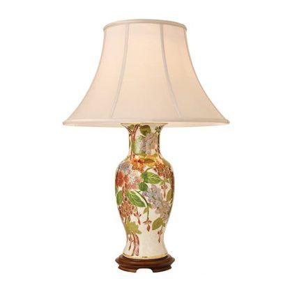 foxgloves lampa stołowa z porcelanową podstawą